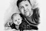 portrét otce s dítětem