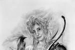 fantasy portrét kresba na přání