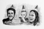 kresba rodinné oslavy
