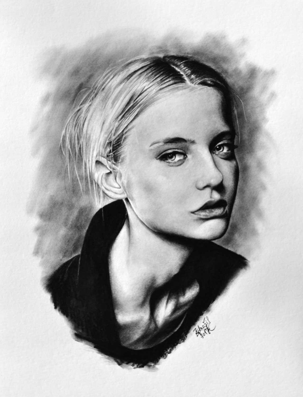 Kresba Portret Nastja Kusakina Radek Zdrazil