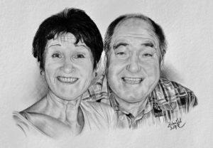 Kresba portrét k životnímu jubileu