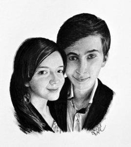 Kresba portrét dvojice