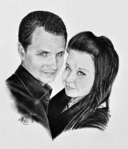 Kresba páru jako svatební dar