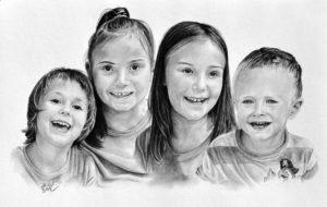 Kresba portrét dětí