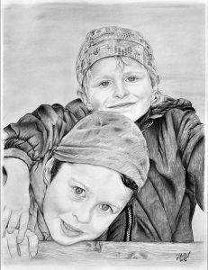 Portrét malých bratrů