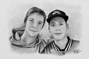 Portrét kamarádů