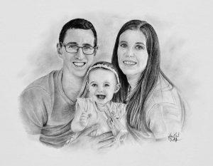 Portrét rodiny s dítětem