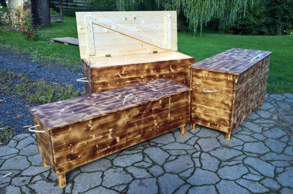 dřevěná truhla zahradní