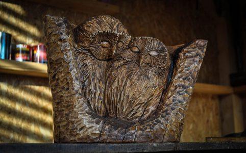 Dřevořezba sovičky
